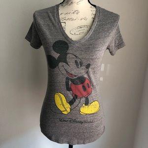 DISNEY PARKS | Mickey Mouse V-Neck T-Shirt